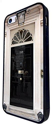 1230 - Cool Fun London Famous Door Travel 10 Downing Street Door Design iphone SE - 2016 Coque Fashion Trend Case Coque Protection Cover plastique et métal - Noir