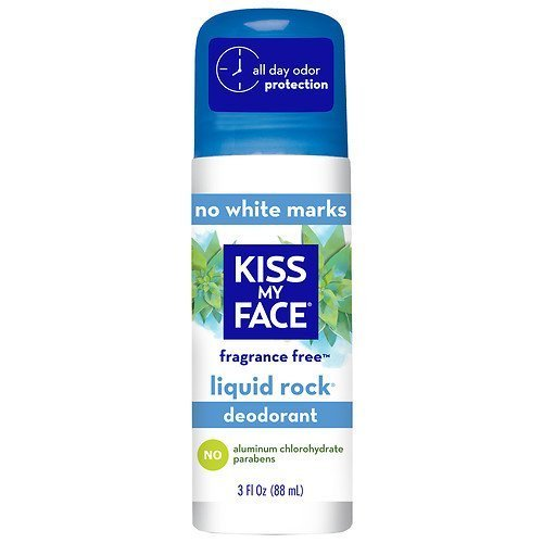Kiss My Face Liquid Rock Deodorant Roll-On, Fragrance Free 3 fl oz ((pack of 2)