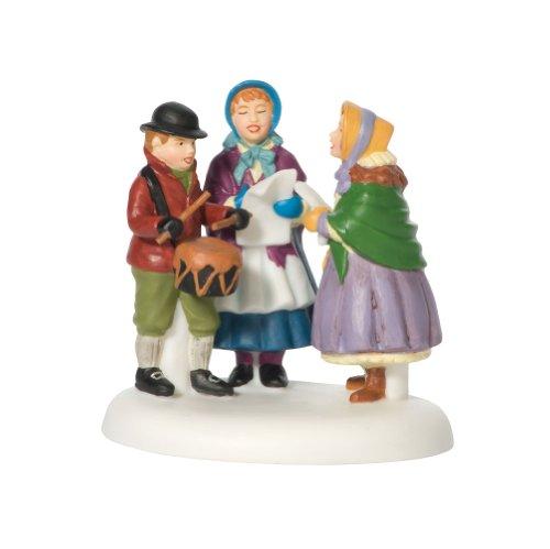 Department 56 New England Village Caroling on Christmas Eve Accessory Figurine (Christmas Figurine Caroling Set)