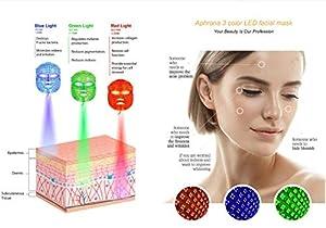 FDA cleared|Aphrona LED Facial Skin Care Mask Light Treatment LED Mask (Color: Off White)