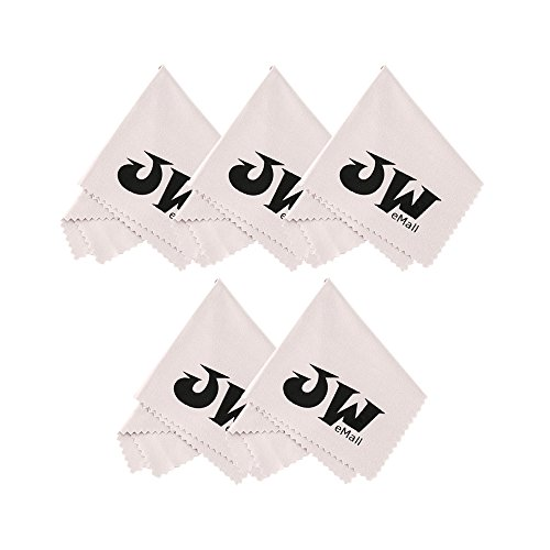 Microfiber Cleaning Cloth (5 Pack) for Camera Screens, Lenses, Eyeglasses, Sunglasses, iPad, iPhone, Smart Phone, Tablet, Fire 7, Kindle, Nintendo Switch, Binoculars, Field Glasses, Telescopes,Watches