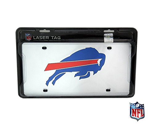 (Buffalo Bills Officially Licensed NFL Mirror Laser Tag License Plate)