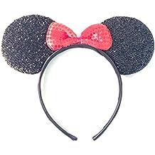 Brand New 2016 Disney Minnie Mouse Sparkle Ears Headband Costume Headwear