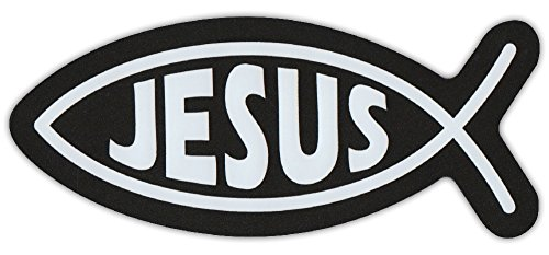 Compare price jesus fish car magnet on for Fish symbol on cars