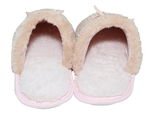 Pink Outdoor Women's Memory Star Foam House Blue Resistant Indoor Sherpa Slippers Comfort Anti Sole Skid w Slip Rubber Peach Bottom qHZxttw5