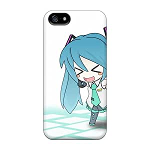 Sanp On Case Cover Protector For Iphone 5/5s (hatsune Miku Chibi Anime Girls Detached Sleeves)