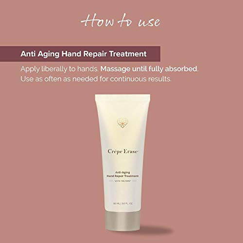 41izkTDyKBL - Crépe Erase Advanced Anti Aging Hand Repair Treatment with TruFirm Complex, Lavender Honey, 3 Oz