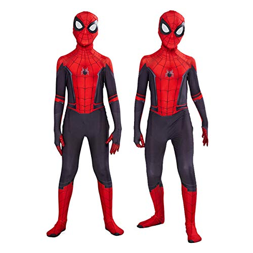 Gurbanton Kids Spiderman far from Home Costume Cosplay Lycra Spandex Zentai Bodysuits 3D Style Jumpsuit for Halloween (Kids L(Height:47-51Inch), A) -