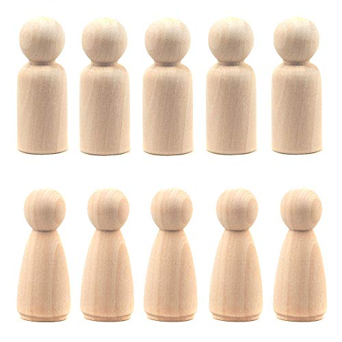 Kansoo 20 Pack Unfinished Wood Doll Bodies - Dad Mom(2Inch)