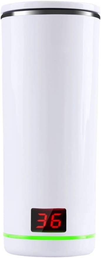 RNGNB Botella de Agua Inteligente, hervidor de Agua Aislado 300 ml Taza termostática de vacío Taza de Agua Deportiva de Acero Inoxidable Taza de café con LCD Smart Water Bottle