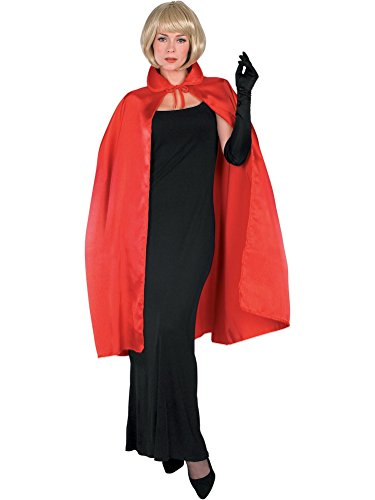Rubie's Satin Cape with Collar 3/4 Length Costume, Red, 45-Inch -