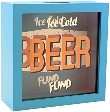 Cerveza fondo dinero caja regalo con frontal de cristal: Amazon.es: Hogar