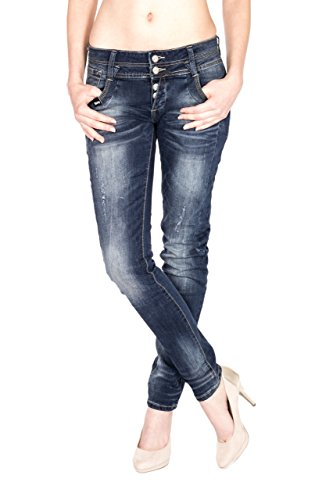 Tinta Jeans Monkey Donna Unita Blau Blue Skinny Otvww