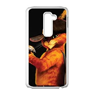 Puss in Boots Design Personalized Fashion High Quality Phone Case For LG G2
