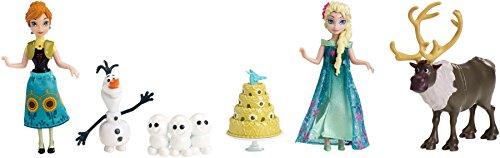 Disney Frozen Fever Birthday Party Small Doll Set (Set Frozen)
