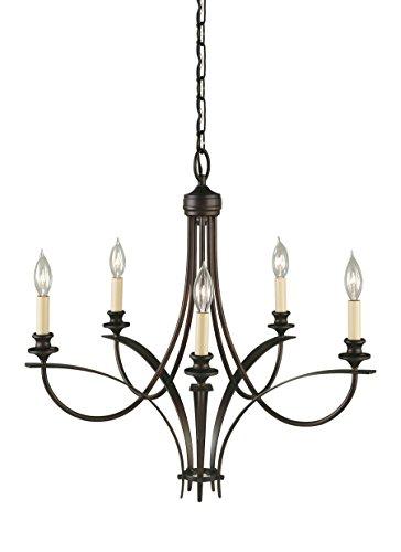 Feiss F1888/5ORB Boulevard Candle Chandelier Lighting, 5-Light, 300watts, Bronze (5