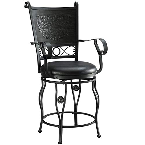 Powell's Furniture Counter Stool in Matte Black and Gray Finish