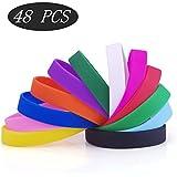 GOGO 48 PCS Silicone Bracelets Set Assorted Colors Adult Party Wristbands