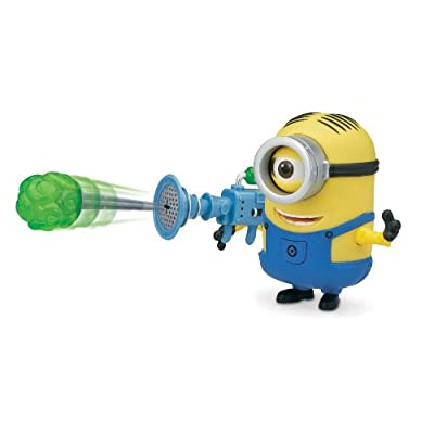 Despicable Me Stuart Deluxe Action Figure with Fart Dart Launcher: Toys & Games