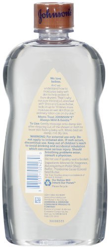 Johnson's Baby Oil Shea and Cocoa Butter, 20 Ounce (Pack of 2) NewBorn, Kid, Child, Childern, Infant, Baby by We-Love-Babies (Image #2)