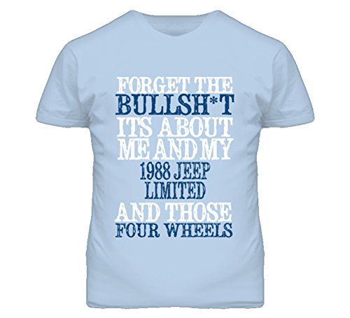 About 1988 T-shirt (Forget The BS Its All About 1988 Limited Distressed Look T Shirt XL Light Blue)
