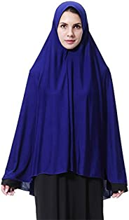 GladThink Womens Muslim Long style Hijab Black
