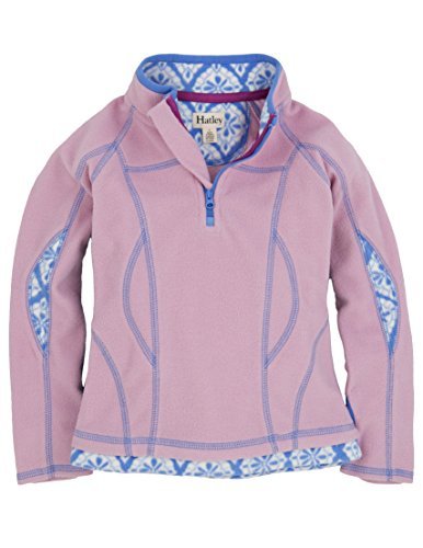 Hatley Little Girls' Mock Neck Fleece Jacket-Pink with Skylight Medallion, Pink Skylight Medallion, 6 by Hatley