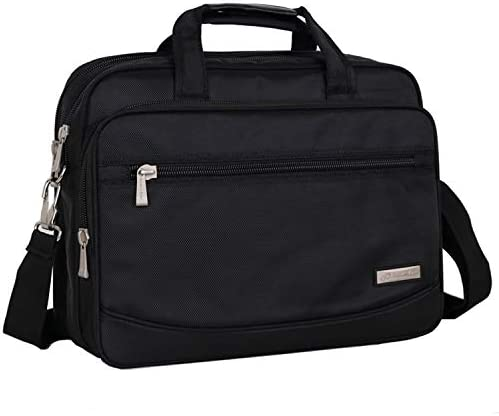 ビジネス PCバッグ 14インチ バッグ ショルダーバッグ 大容量 防水 2way マチ拡張可能 撥水加工 防水 通勤 出張 営業 旅行 通学 メンズ ブラック(No.8009#)