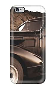 Awesome Case Cover/iphone 6 Plus Defender Case Cover(girl And Vintage Car Sepia Old Looking Photo Car )