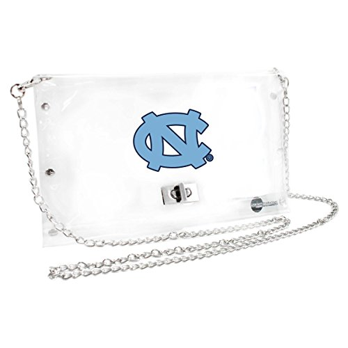 (Littlearth NCAA North Carolina Tar Heels Clear Envelope Purse)
