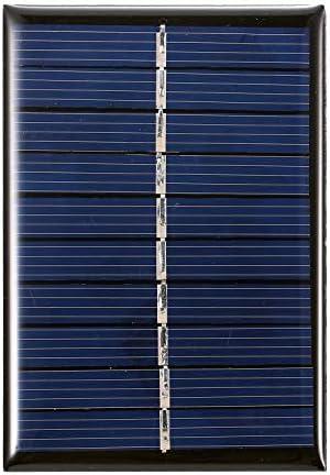 Hylotele 0,5 W 5 V Mini-Solarpanel Polykristallines Silizium Kleine Solarzelle DIY Wasserdichtes Camping Tragbares Solarpanel Kompatibel für Spielzeug Lichtlampe Lüfter Gartenpumpe Polykristallines S