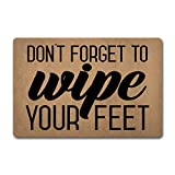 ZQH Entrance Door Mats Don't Forget to Wipe Your Feet Doormat Welcome Door Rugs (23.6 X 15.7 in) Non-Woven Fabric Top with a Anti-Slip Rubber Back Door Rugs Outdoor Doormat