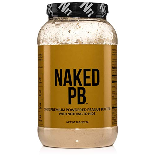 (2lbs of 100% Premium Powdered Peanut Butter from US Farms - Bulk, Only Roasted Peanuts, Vegan, No Additives, Preservative Free, No Salt, No Sugar - 76 Servings - NAKED PB )