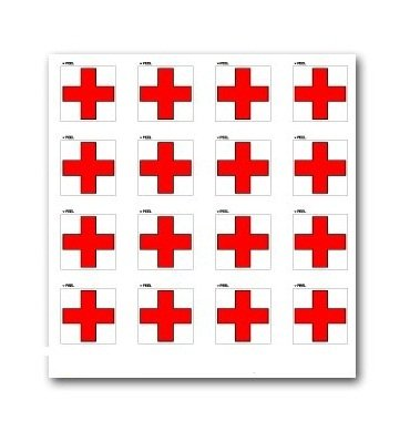 red-cross-on-white-set-of-16-window-bumper-laptop-stickers