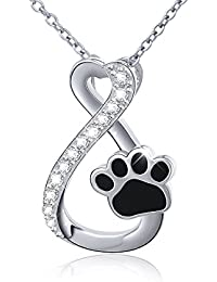 S925 Sterling Silver Infinity Forever Love Heart Puppy...