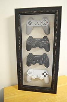Playstation 4 3 2 1 History Decor Shadow Box Framed - Playstation art