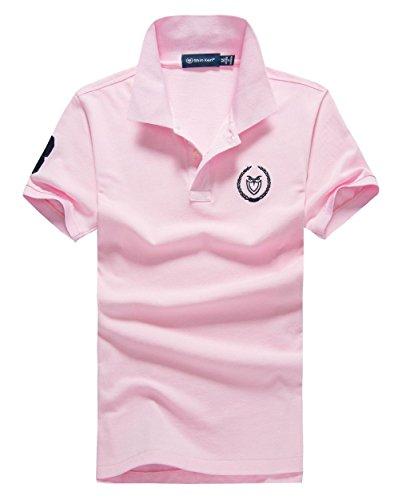 (シンアンドケン) sin&ken ポロシャツ メンズ シャツ 半袖 ポロ ゴルフウェア トップス 2XL ピンク [並行輸入品]
