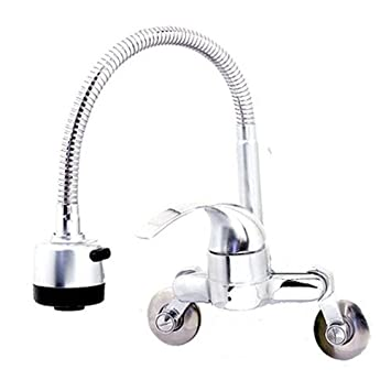 Superior Kitchen Faucet Taps Chrome Flexible Cobra Head Pull Out Wall Mount Sink  Faucet 2 Function