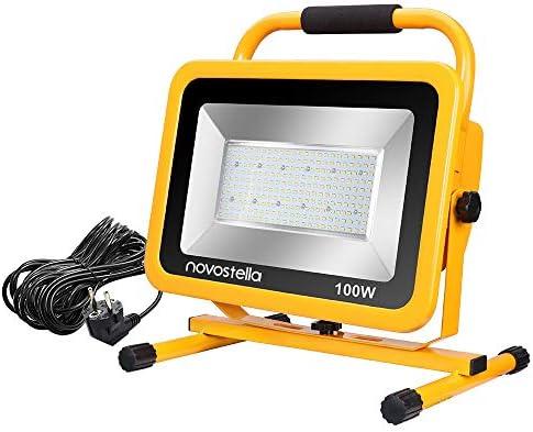 Blanco Fr/ío 5000K NOVOSTELLA 10000LM 100W Foco Proyector LED Resistente al Agua IP65 con Cable de 7.6M para Interior o Exterior Led Luz Trabajo Port/átil