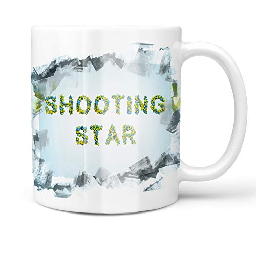 - Neonblond 11oz Coffee Mug Shooting Star Stars Green Blue Rendering with your Custom Name