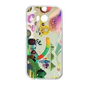 DAZHAHUI Attractive Creative Cartoon Pattern Custom Protective Hard Phone Cae For HTC One M8 by icecream design