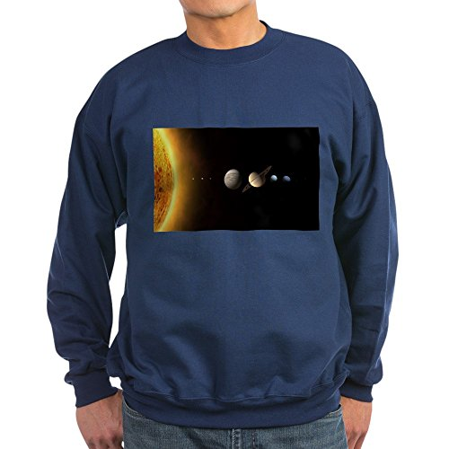 CafePress - Solar System - Classic Crew Neck Sweatshirt Navy
