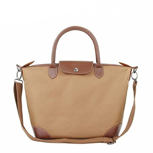 Crossbody Waterproof BEKILOLE Beach Tote Women's Khaki for Bags Travel Bag Women Stylish Nylon rqw8xCrE