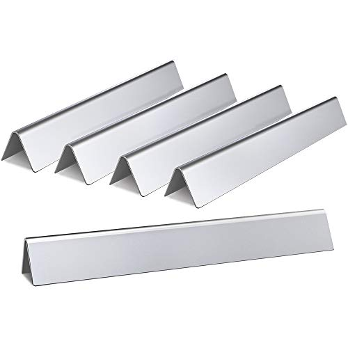 Heat Coated Porcelain Steel Plate (SHINESTAR Stainless Steel Flavorizer Bars Replacement for Weber Genesis 300 Series(2011-2016) Genesis E310/E320/S310/S320/S330 EP310/EP320 with Front Control Knobs, Set of 5 17.5 inch Flavor Bars)