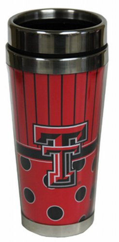 NCAA Texas Tech Red Raiders Polka Dot Travel Mug