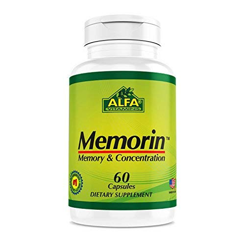 Memorin 60 Capsules. Vitamin B Formula With Ginkgo Biloba. Supports Brain Health and Memory