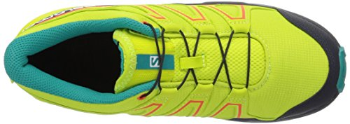 Salomon Speedcross J, Zapatillas de Trail Running Unisex Niño, Verde (Acid Lime/Night Sky/Scarlet Ibis 000), 31 EU