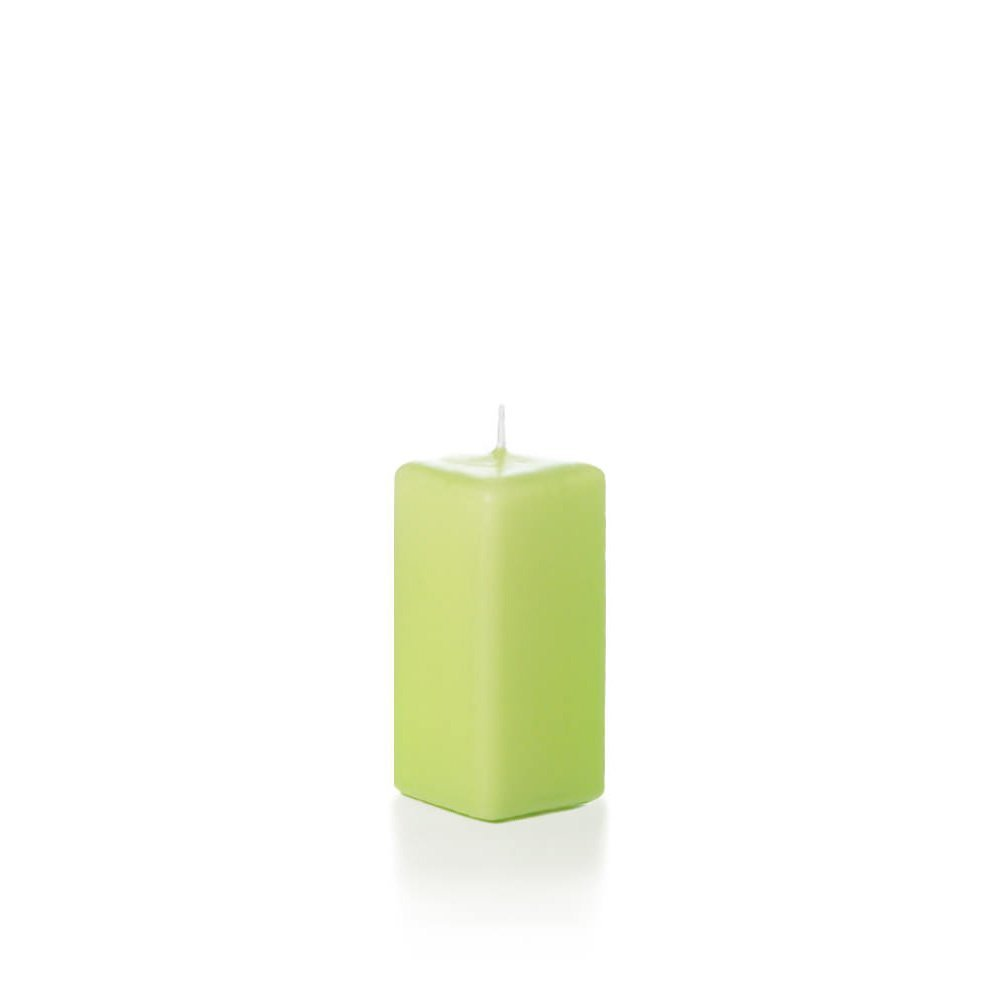 Yummi 2.25 x 5 Blush Unscented Square Pillar Candles - 4 per pack Neo-Image Candlelight Ltd