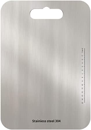 Tabla de cortar de acero inoxidable 304 antimoho para cocina