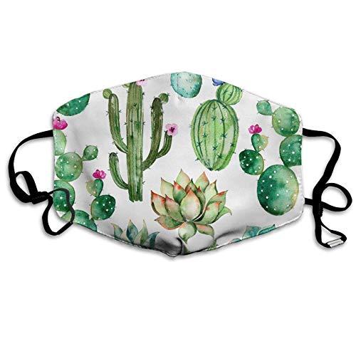 Reusable Dust Flu Masks Watercolor Succulent Cactus Women Men Super Filter Pollen Dust Bacteria Anti Allergy Dental Earloop Procedure Masks